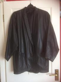 Woman's Real Leather Black Jacket Size 14