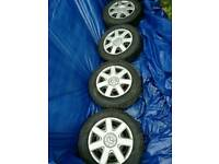 Tyres with alloys set of 4