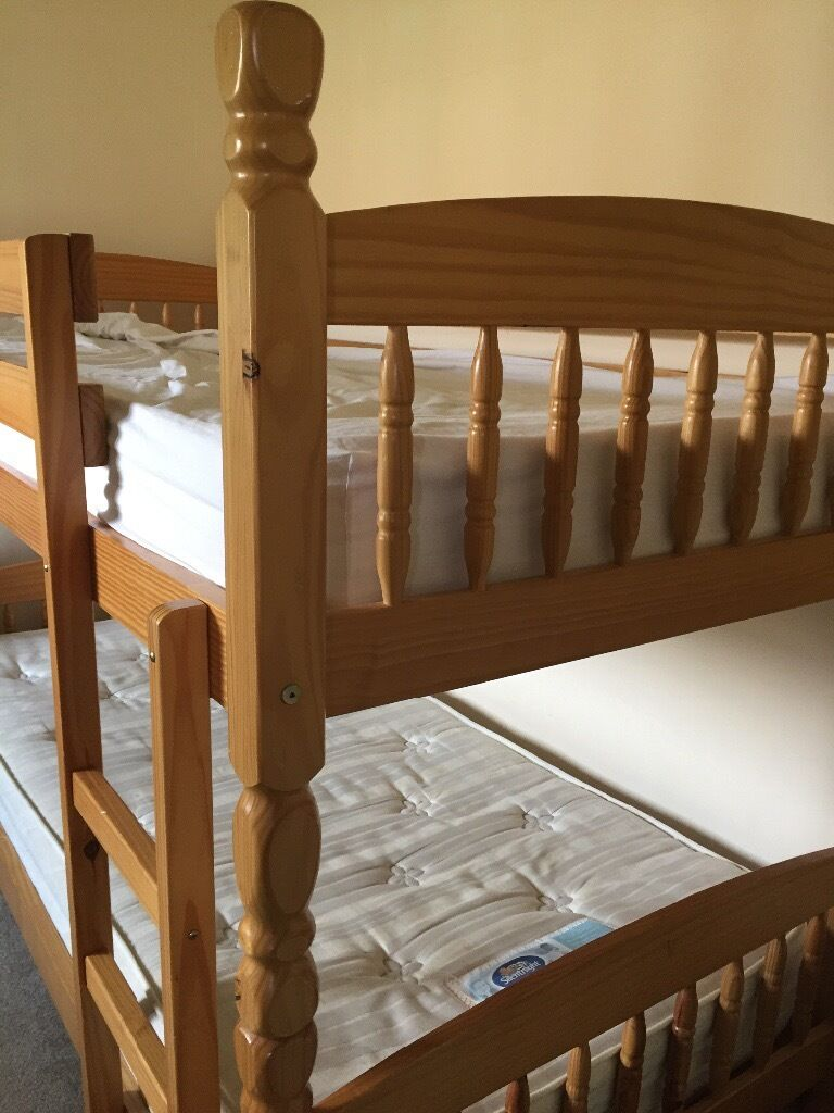 Pine Single Bunk Beds That Can Be Separated And Used As Two Single
