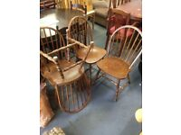 Four dining table chairs