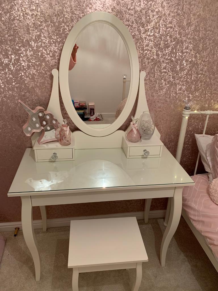 Ikea Hemnes Dressing Table And Stool In Bearsden