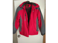Jack Wolfskin Winter Mens Coat Jacket Red