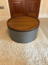 Contemporary High Gloss and Walnut Coffee Table