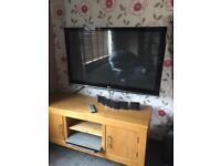 LG tv , DVD player with surround sound.