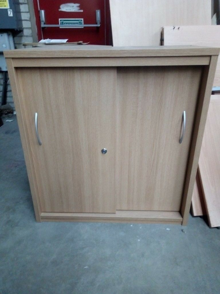 Oak Storage Unit With Sliding Doors Storage Cupboard In Whitley