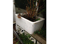 Belfast sinks x2 currently used as planters in garden