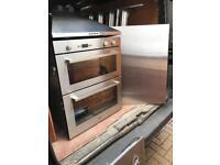 Whirlpool double oven/hood/splashback/has hob