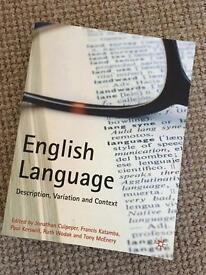 English language: Description, Variation and Context text book