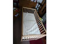 Child's cot for sale. Only used 3 times