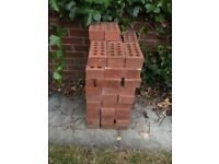 Bricks. Red faced bricks