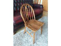 Ercol Dining Chair, Ercol Fluer De Lys medium oak dining chair £22 pick up HU12 9QN Thorngumbald