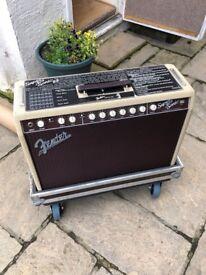 Fender Super-Sonic 22 Guitar Amp Combo in Blonde Inc. Flight Case
