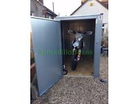 Motorcycle Storage Shed Box steel. Sercure and weather proof motorbike storage shed