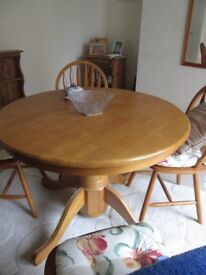 table and four chairs for sale,good/reasonable condition, must be collection only
