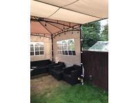 Innovators Gazebo 3x3m Becomes 6x3m - 3 Side Panels + Telescopic Front -RRP £500