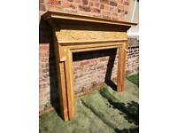 GESSO Antique pine fire SURROUND CHEAP DELIVERY UK