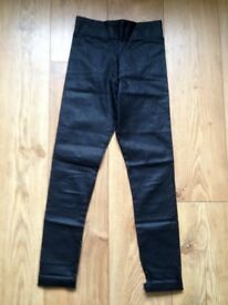 RIVER ISLAND WET LOOK LEGGINGS AGE 11-12