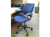Blue ergonomic office chair
