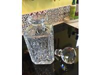 Lead crystal decanter
