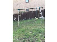 Swing set for sale in Bearsden. Solid wood. Pickup only