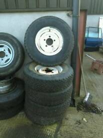 Land rover steel wheels