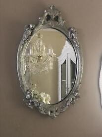 Silver Vintage Cherub Mirror