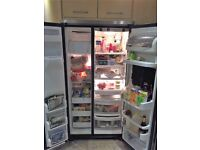 GE AMERICAN STYLE STAINLESS STEEL FRIDGE FREEZER