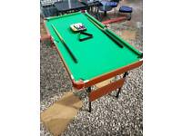 Fold up pool table (measurements in description)
