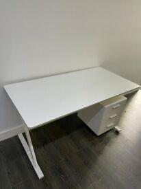 Modern Office Desks - VGC - White