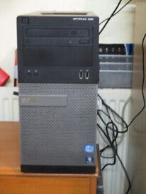 Fast Dell PC Tower, i3, 4gb ram, 250gb, HDMI, Win10.