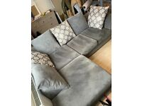 Wayfair Kinley Modular Corner Sofa in Grey - Left Hand Facing