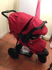 Mothercare extreme red travel system
