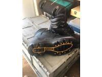 Steel toe cap boots size 5