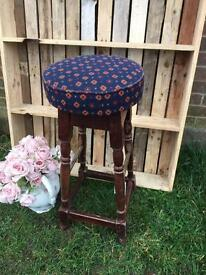 Tall vintage bar kitchen stool good condition