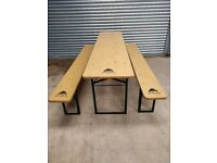 Party bench, folding table and bench set for sale