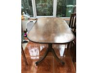Very Old Dining Room Table & 4 Chairs