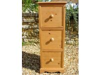 Solid and chunky large pine chest of drawers