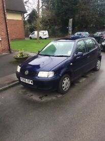 VW Polo for spares or repairs. 01/06/2018 Tax and MOT