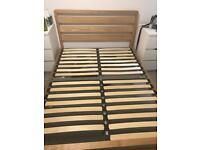 Wooden double bed frame. excellent condition