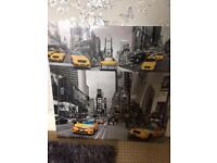Yellow Taxi Art Work Picture x 5