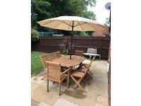Bramblecrest Teak solid oval 8 seater garden furniture set