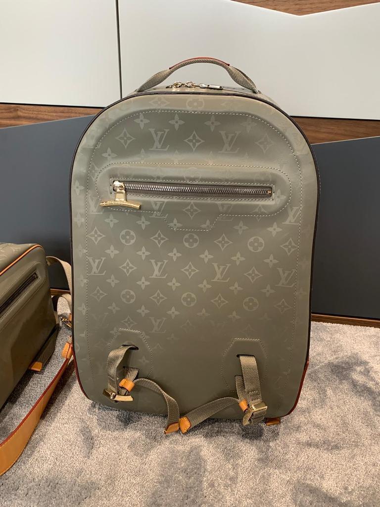 4ebcef395bf2b8 Louis Vuitton LV monogram titanium large backpack and crossbody bag ...