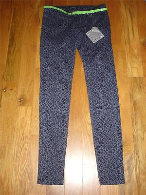 Belted Print Jeans - NWT BE BOP Animal Print Leopard SKINNY Jeans w/ Belt Juniors size 1