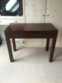 HARD WOOD DESK/ SIDE TABLE