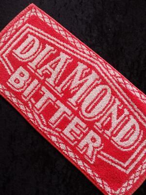 VINTAGE British PUB DIAMOND Bitter 1980s BEER Bar Towel RUNNER MAT VGC FREE POST