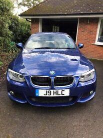 BMW 320d M Sport Convertible 2013/13 14,000 Miles Le Mans Blue Euro 5