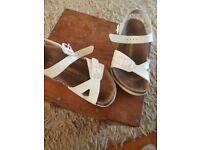 Cream Birkenstock Sandals size 12