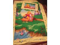 Winnrie the Pooh Reversible Single Duvet Cover and Pillowcase
