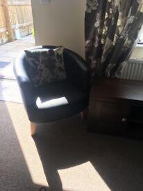 Black tub chair brand new