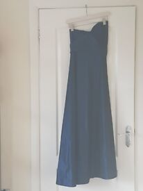 Electric dark blue prom dress with Bolero